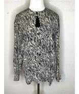 ESCADA Margaretha Ley 100% Silk Shirt Blouse Designer Button Black Sz 34... - $59.95