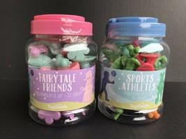 Math Counter Manipulatives Set If 2 Jars - 20 Sports & 22 Fairytale - NE... - $11.99