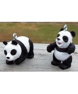 Custom Made Standing Panda Bear Set Christmas Holiday Ornaments Wild Rep... - $18.00