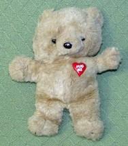 Vintage EMOTIONS RARE Teddy Bear HUG ME Red Heart MATTEL Tan Plush 1985 ... - $28.05