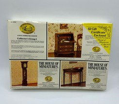 The house of miniatures collectors group 1 Desk, clock, table  New in se... - $39.99