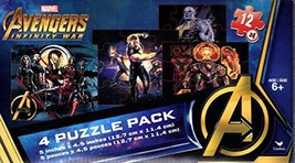 Marvel Infinity War Avengers - 4 Puzzle Pack - 12 Piece Jigsaw Puzzle (S... - $9.15