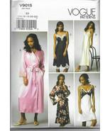 Vogue V9015 Ladies Nightgown & Robe Set Long & Short Size 14-22 Sewing P... - $26.43