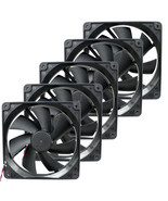 5 pack 120mm Computer Case Fan Y.S. Tech DC Brushless KM121225LS 3 Pin &... - $20.99