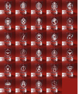 Set of 6 Shot Glasses Superhero, Deadpool, X-man, Iron man, Captain America - $39.99