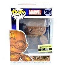 Funko Pop! Marvel Captain America Entertainment Earth Exclusive Wood Deco #584
