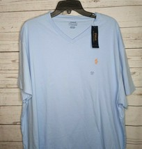 Polo Ralph Lauren Mens SZ 2XL XXL T Shirt Pony Logo V-NECK BLUE TEE CLAS... - $21.99