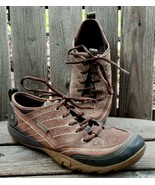 Merrell Trail Shoes Womens 9.5 M Brown Suede Hiking Lightweight Mimosa L... - $32.19