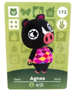 172 - Agnes - Series 2 Animal Crossing Villager Amiibo Card - $29.99