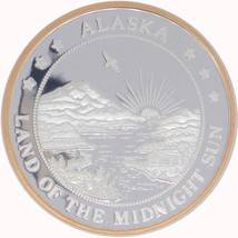Alaska Mint Black Bear Gold Silver Medallion Proof 1 Oz - $95.03
