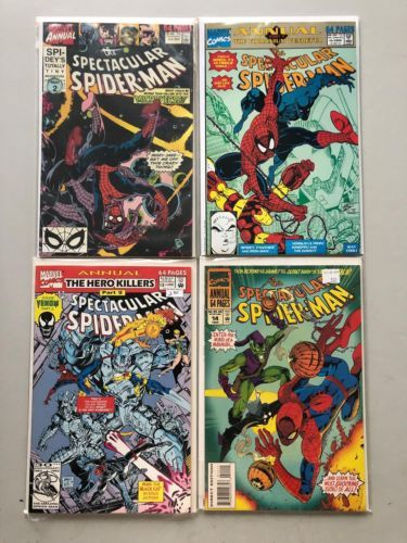 Lot of 4 Spectacular Spider-Man (1st Series) Annual #10-14 VF Very Fine