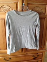 Women's 100% organic cotton grey long sleeve top Size Large (12-14) by seed - $29.99