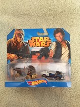 New 2014 Hot wheels Star Wars Han Solo and Chewbacca - $12.86