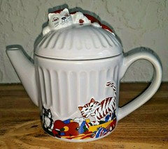 Vintage Wade England Feline Collection Whimsical Cat Teapot Judith Wootton - $24.74