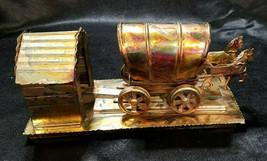 Vintage Berkeley Designs Copper Horse Drawn Wagon Music Box, circa 1970s - $18.00