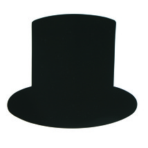 Top Hat Cut-Out Shapes Confetti Die Cut FREE SHIPPING - £5.32 GBP