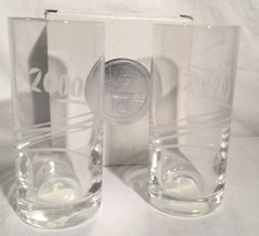 Set Of (2) MIKASA Year 2000 Highball Glasses New In Open Box Barware Glass - $19.79