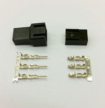Stecker & Buchse 3 Pin PC Lüfter LED Verbinder - 5 of Jeder schwarz inkl... - $5.68