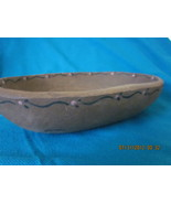 Old Wooden Bowl with Delicate Trim signed Evergreen - $22.99