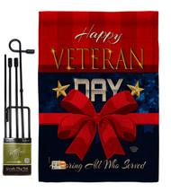 Happy Veteran Day Burlap - Impressions Decorative Metal Garden Pole Flag... - $33.97