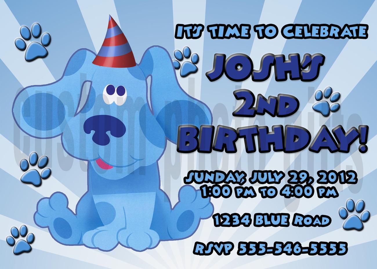 Blues clues birthday invitation