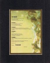 Touching and Heartfelt Poem for Motivations - I'm Special Poem on 11 x 14 inches - $15.79
