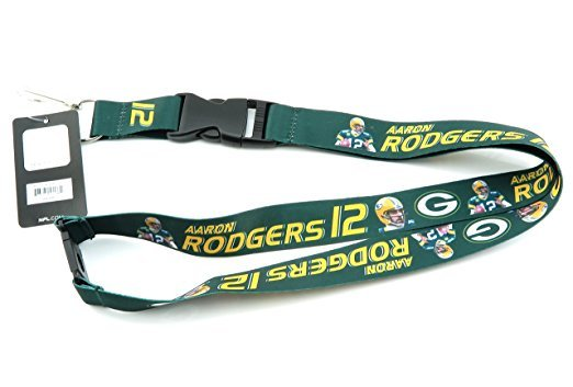NFL Green Bay Packers Aaron Rogers Player Action Lanyard