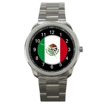 Sport Metal Unisex Watch Highest Quality Flag Mexico - $23.99