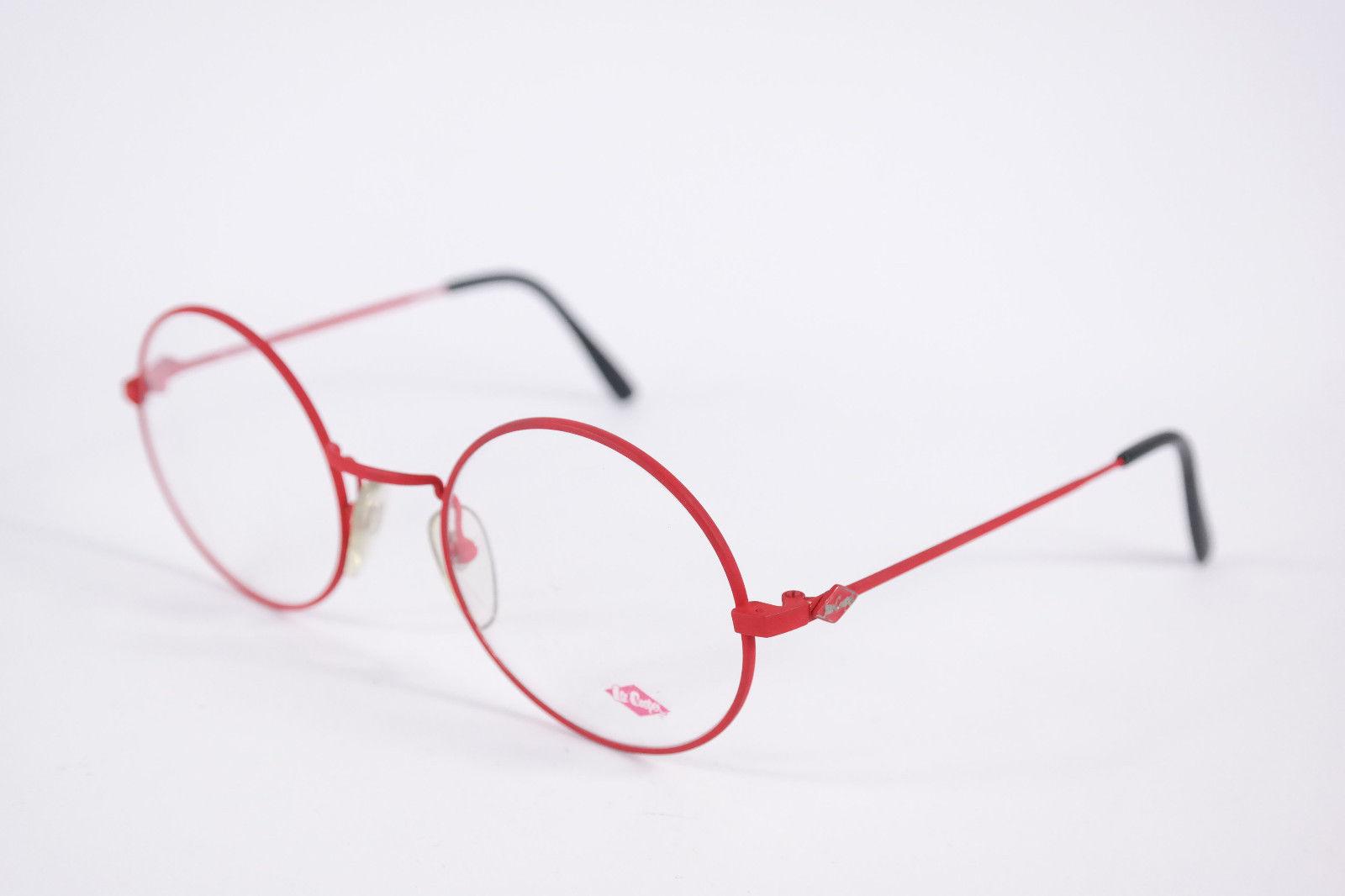 Authentic Lee Cooper Dallas Red Black Round Eyeglasses France Eyewear Unisex image 3
