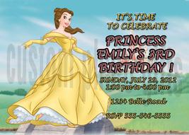 Personalized Disney Princess Belle Birthday Invitation Digital File, You... - $8.00