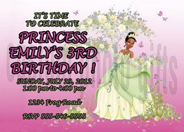 Personalized Disney Princess Tiana Birthday Invitation Digital File, You... - $8.00