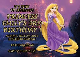 Personalized Disney Rapunzel Tangled Birthday Invitation Digital File, Y... - $8.00