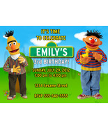 Personalized Sesame Street Bert and Ernie Birthday Invitation Digital File - $8.00