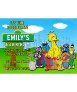 Personalized Sesame Street Birthday Invitation Digital File, You Print - $8.00