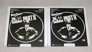 THE GODFATHER PART 11 CED Capacitance Electronic Discs 2 discs