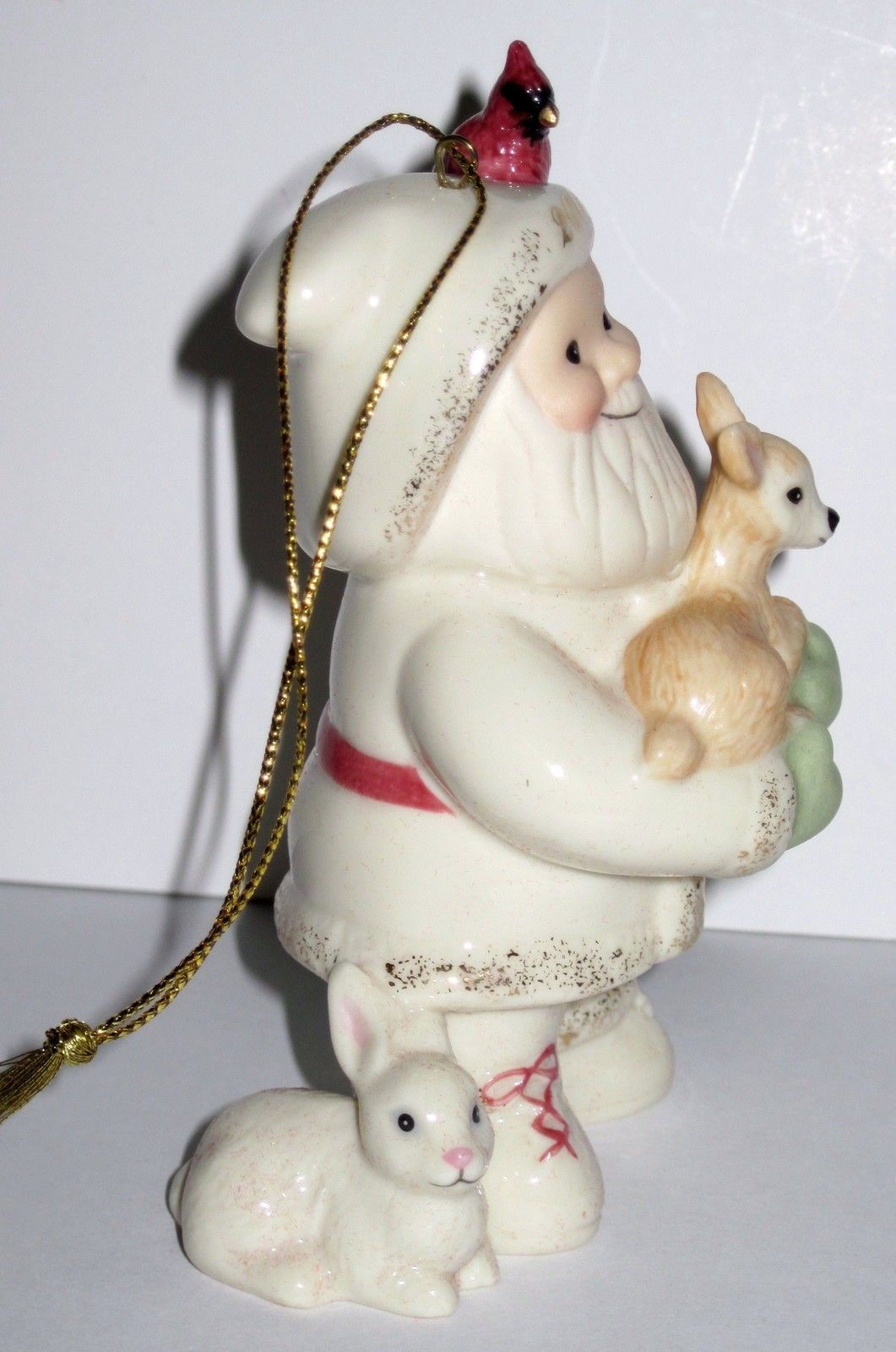 NIB Lenox 2008 Annual Santa's Woodland Friends Christmas Ornament porcelain image 4
