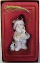 NIB Lenox 2008 Annual Santa's Woodland Friends Christmas Ornament porcelain image 2