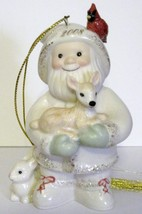NIB Lenox 2008 Annual Santa's Woodland Friends Christmas Ornament porcelain image 3