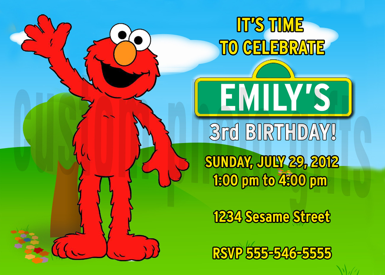 Personalized Sesame Street Elmo Birthday And 37 Similar Items