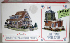 MIB 1998 LIBERTY FALLS HOME OF ARTIST ANABELLE PHILLIPS & WATER TOWER Se... - $14.00