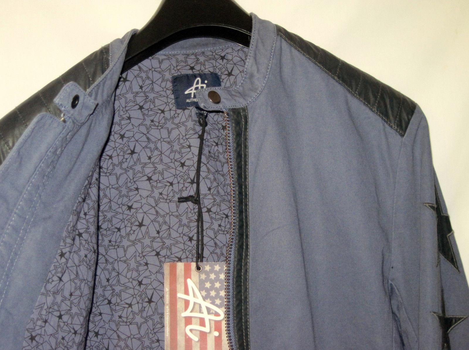 NWT Authentic Icon AMERICAN IDOL Biker Jacket Gray Patriotic Rock N Roll Men L image 4