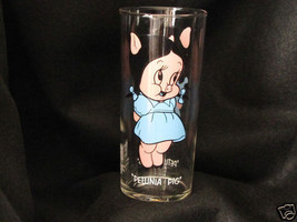 Pepsi Collector Series Glass  Tumbler 1973 Petunia Pig Looney Tunes Warn... - $20.30