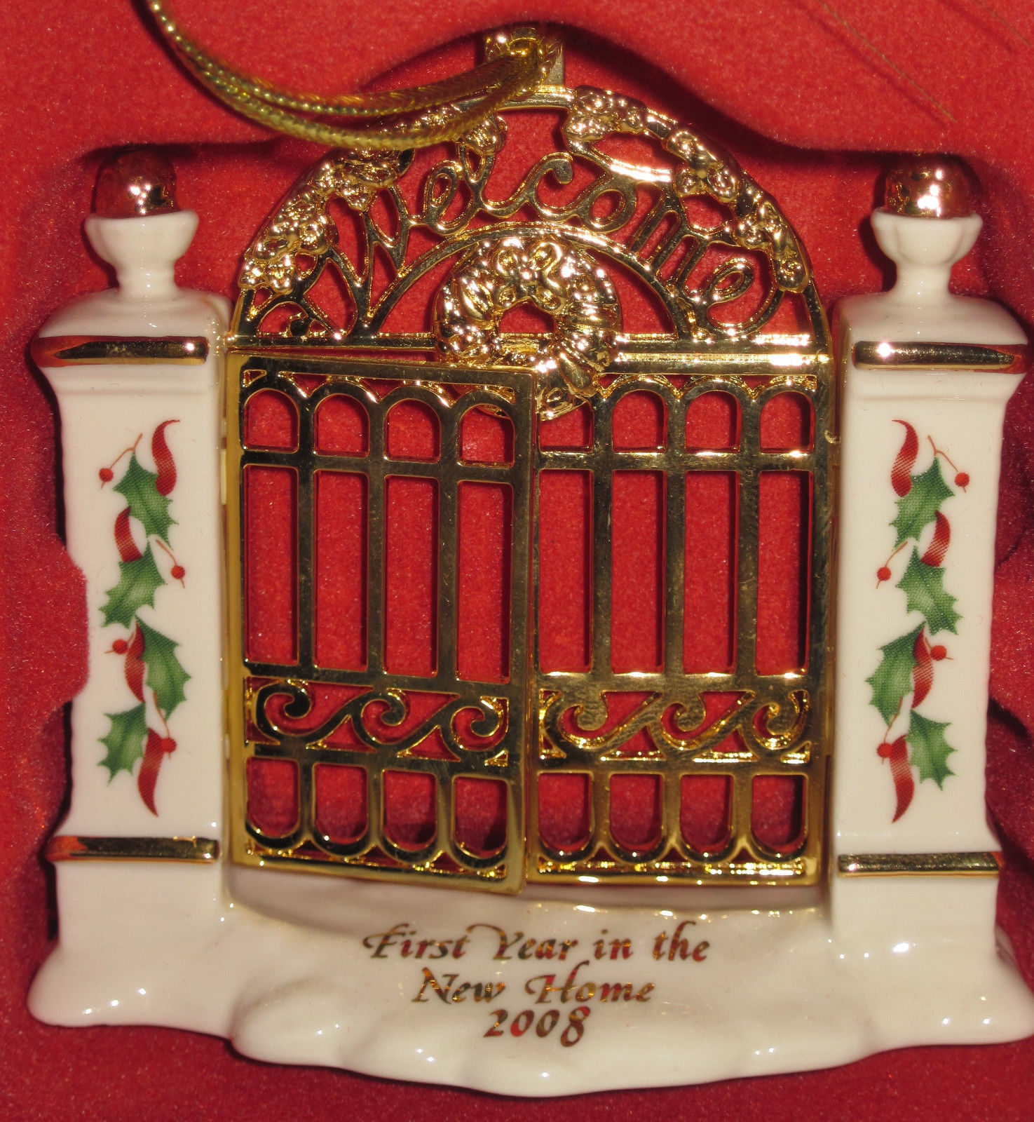 NIB Lenox 2008 Annual First Year in New Home Christmas Ornament Welcome Gate image 3