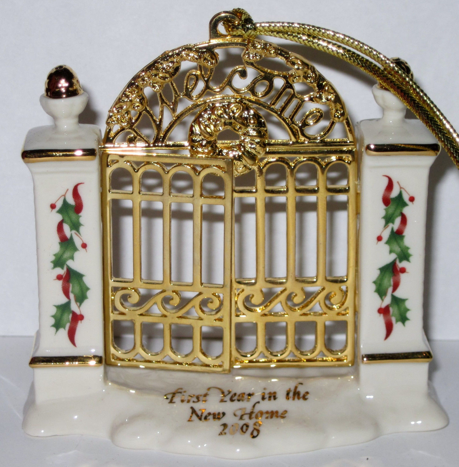 NIB Lenox 2008 Annual First Year in New Home Christmas Ornament Welcome Gate image 4