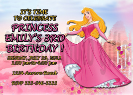 Personalized Disney Sleeping Beauty Birthday Invitation Digital File, Yo... - $8.00