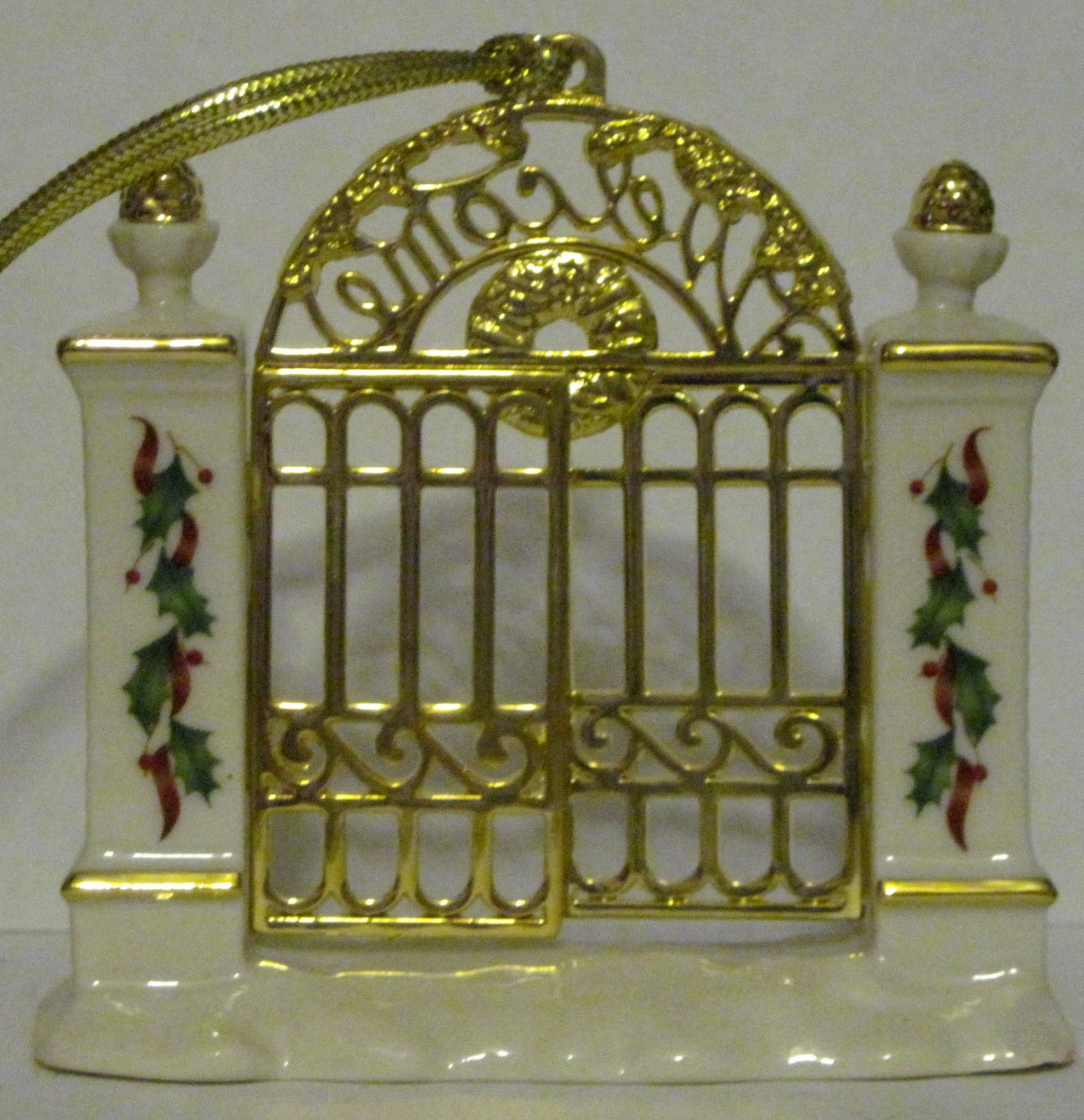 NIB Lenox 2008 Annual First Year in New Home Christmas Ornament Welcome Gate image 5