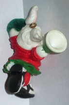 1986 Hallmark Christmas Ornament Rah Rah Rabbit handcrafted mini cheerleader MIB image 4