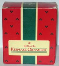 1986 Hallmark Christmas Ornament Rah Rah Rabbit handcrafted mini cheerleader MIB image 6