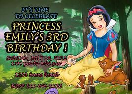 Personalized Disney Snow White Birthday Invitation Digital File, You Print - $8.00