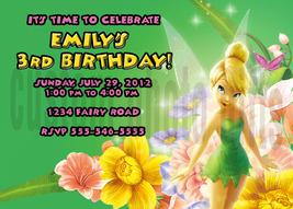 Personalized Disney Tinkerbell Birthday Invitation Digital File, You Print - $8.00